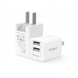 Зарядное устройство с двумя USB-выходами ORICO WHA-2U