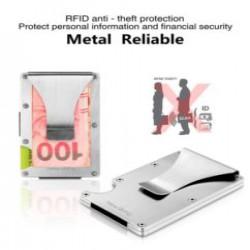 Металлический кардхолдер с RFID защитой