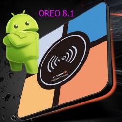 R-TV бокс S10 PLUS на базе CPU RK3328 с памятью 4/32 ГБ, USB 3.0, на ОС Android 8.1 и со встроенной беспроводной зарядкой Qi.