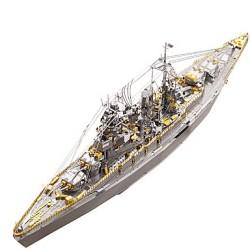 Корабль-конструктор (из серии 3D пазлы). Линкор из нержавеющей стали