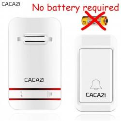 Беспроводной дверной звонок, в кнопке которого нет батарейки.