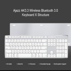 Ультратонкая блютуз клавиатура AJazz AK3.3 (106 клавиш) в алюминиевом корпусе.