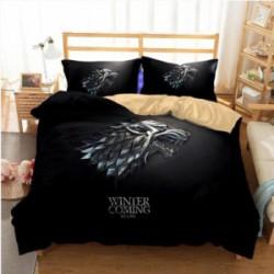 Постельное белье с принтом из Game Of Thrones (Дом Старков)