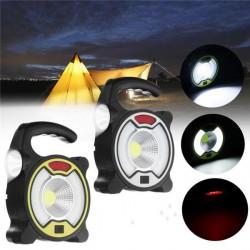 Комбинированный фонарь ближнего радиуса действия для дома, гаража, кемпинга и т.д. с COB матрицей, «курсовым» светом, солнечной панелью.