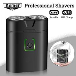 Компактная аккумуляторная электробритва Kemei W301.