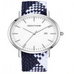 Простенькие кварцевые часы Geekthink - трехстрелочник с датой