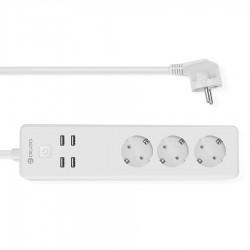 Smart удлинитель DIGOO DG-PS01 на 3 розетки и 4 порта USB.
