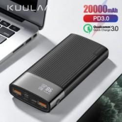 Обзор павербанка KUULAA 20000 mAh - QC на вход/выход, type-C, PD и прочее