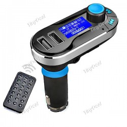 Bluetooth V2.1+EDR MP3 Player FM Transmitter Dual USB Car Charger